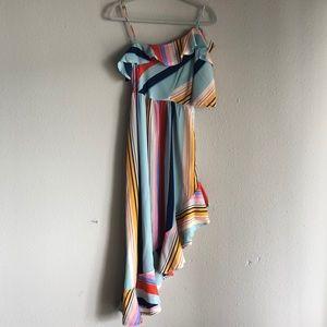 ASOS One Shoulder Striped Dress